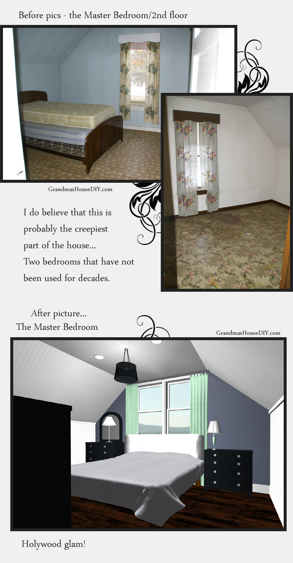 Master bedroom remodel in an old home - master bedroom suite. Grandmashousediy.com