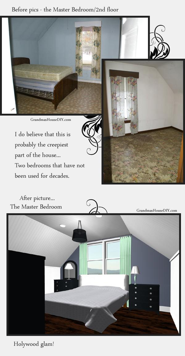 Master bedroom remodel in an old home - master bedroom suite. Grandmashousediy.com