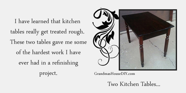 Refinishing a kitchen table - GrandmasHouseDiy.com