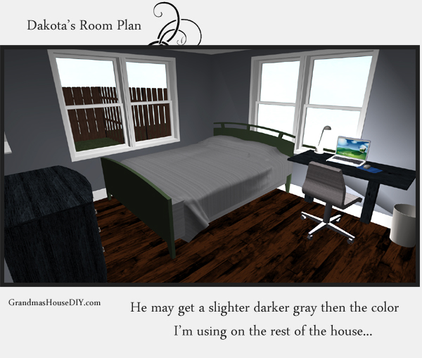 Remodeling an old farm house - a tweens bedroom. 3d image. GrandmasHousediy.com