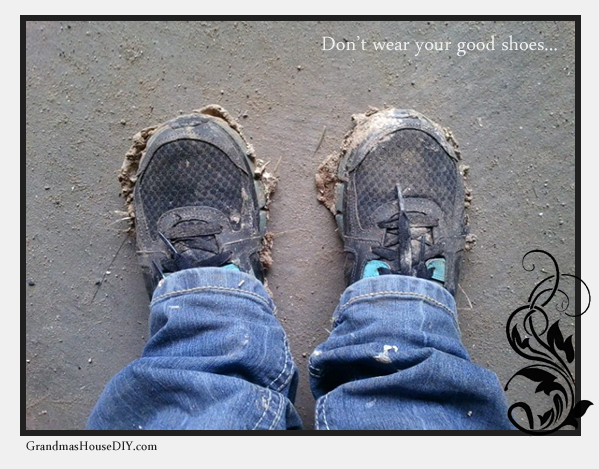 Don't wear your good shoes! Furniture refinishing and remodeling tips from GrandmasHouseDiy.com