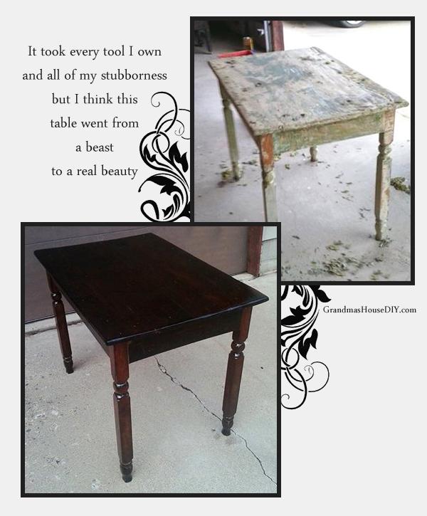 Refinishing old kitchen tables at renovation.grandmashousediy.com