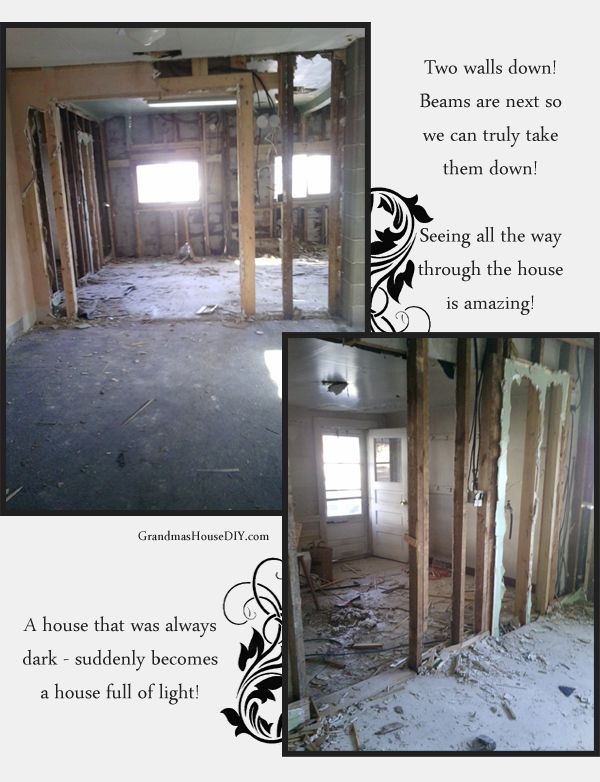 Days 4-5 of the renovation of my grandma's 100 year old farm house.